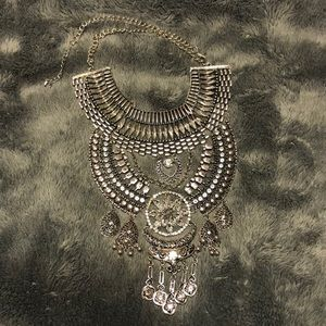 SILVER statement necklace